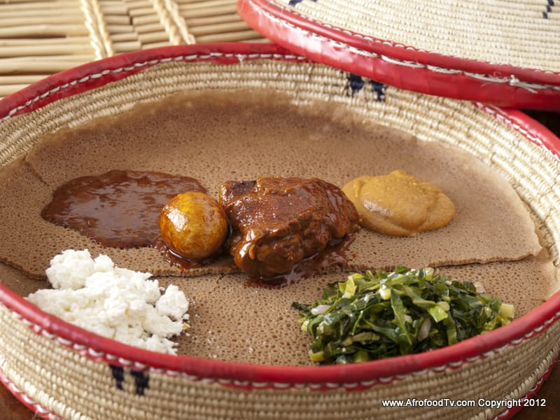 DoroWot, ShiroWot, African Cheese, Sauteed Collard Greens  <a href=