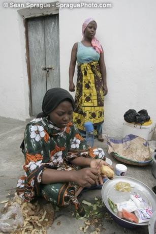 African Women Preparing for Iftar during Ramadan